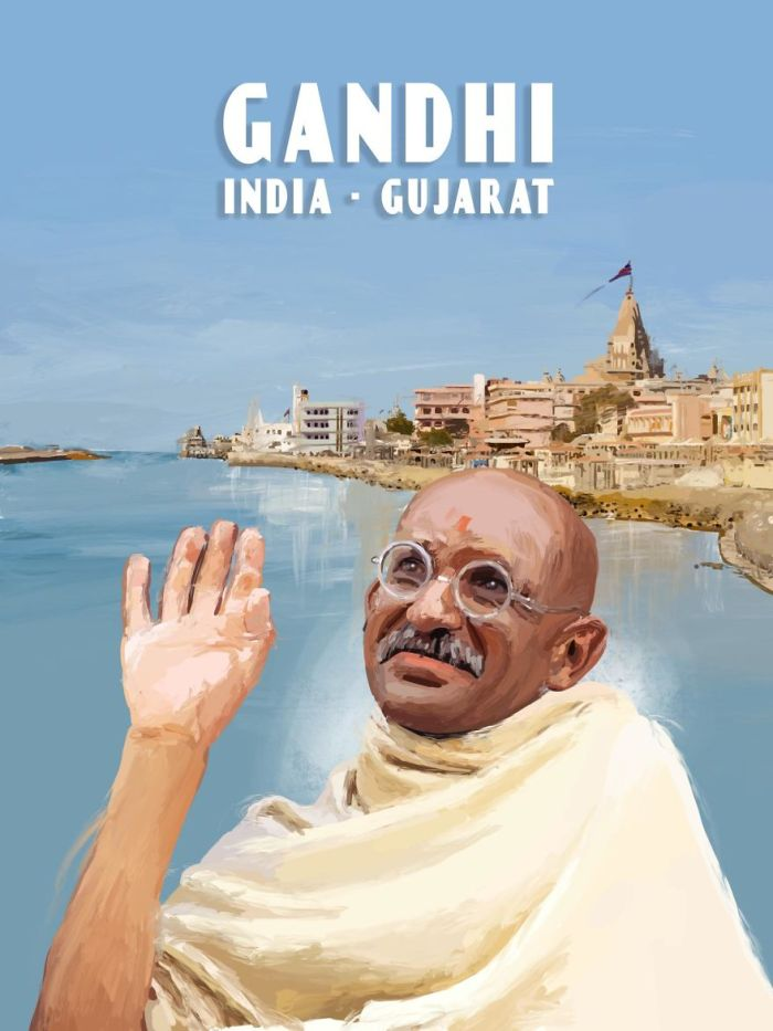 Gandhi - Gujarat, India (Tom Mcloughlin)