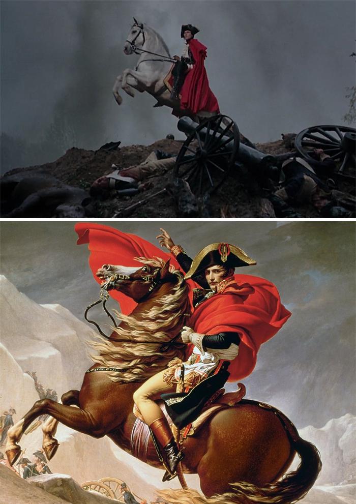 Marie Antoinette (2006)/Napoleon crossin the Alps (1801)