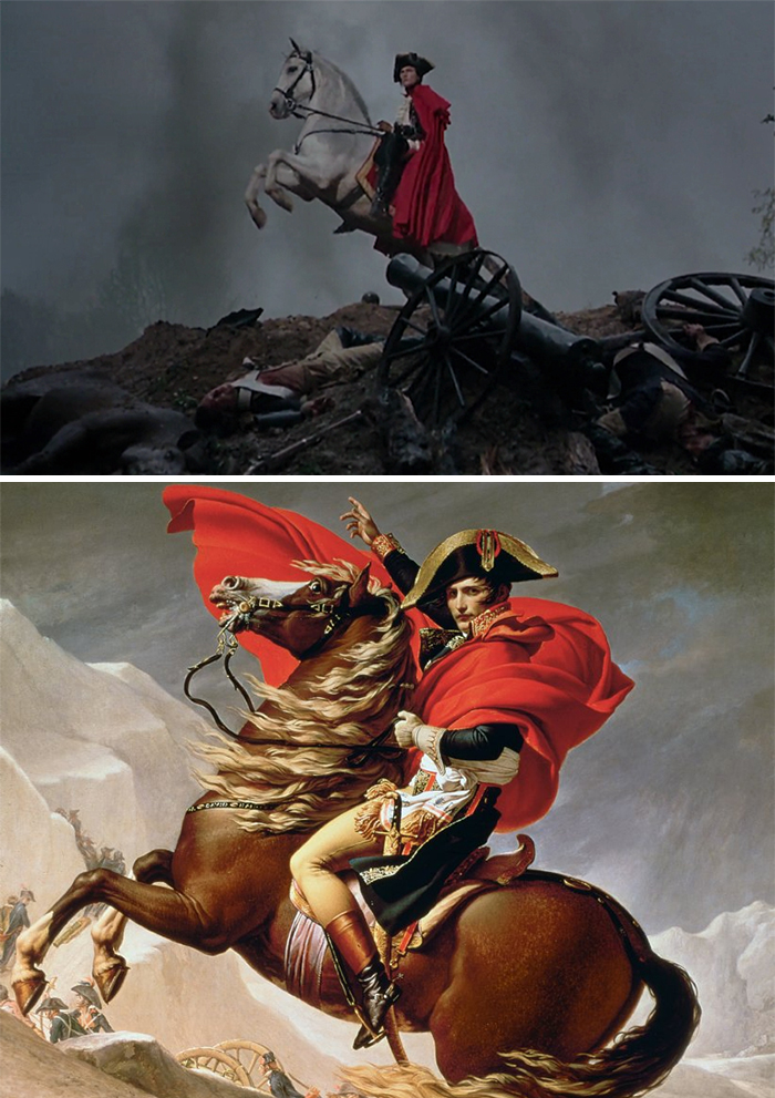 Marie Antoinette (2006)/Napoleon crossin the Alps (1801)