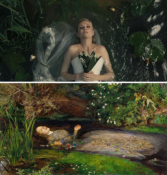 Melancholia (2011)/Ophelia (1852)