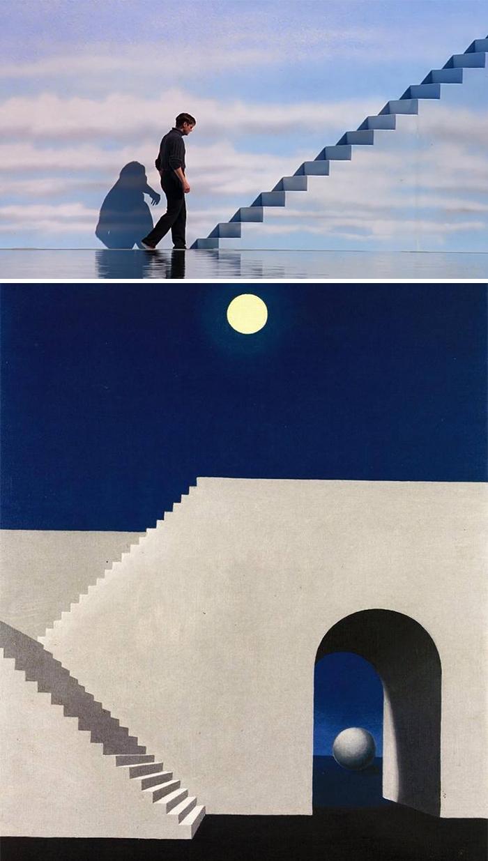 The Truman Show (1998)/Architecture Au Clair de Lune (1856)