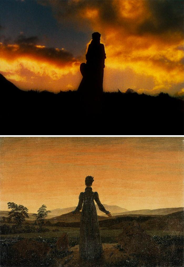 Via col vento (1939)/Woman before the rising sun (1818-1820)