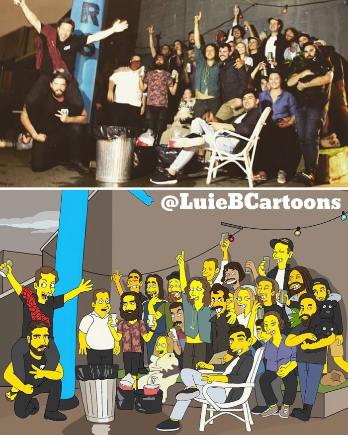 Yellow caricature/Luie B Cartoons