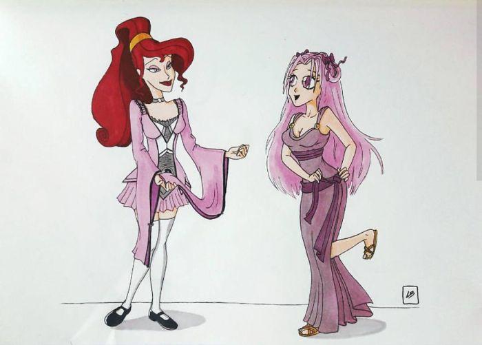 Megara e Sakura (Linda Bouderbala)