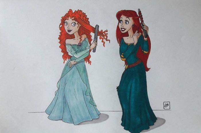 Merida e Ariel (Linda Bouderbala)