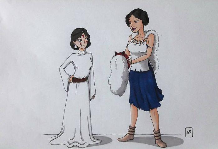 Mononoke e Leia (Linda Bouderbala)