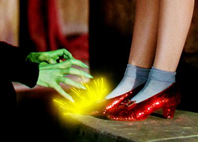La scarpe rubino di Dorothy de Il Mago di Oz
