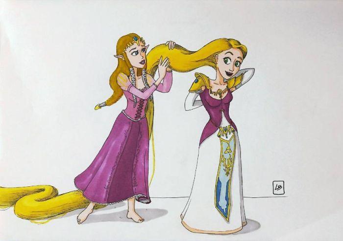 Zelda e Rapunzel (Linda Bouderbala)