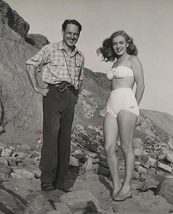 Il fotografo Richard C. Miller con Marilyn Monroe